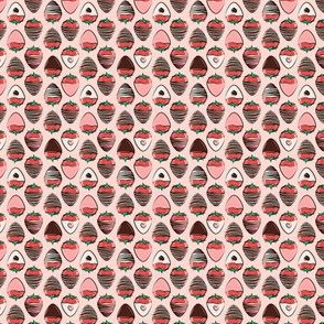 (micro scale) chocolate covered strawberries - pink C18BS