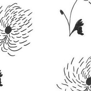 Black Blooms - Large