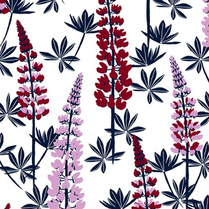Lupine Fields navy orchid extra large