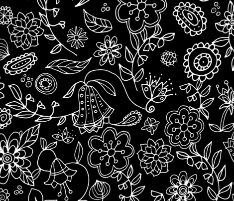 Funky Floral fabric by snowflower on Spoonflower - custom fabric