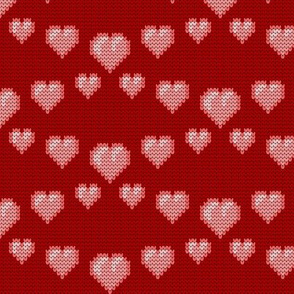 08258826 : knit love hearts
