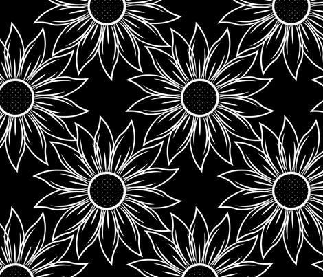 Sunflowers fabric by svaeth on Spoonflower - custom fabric