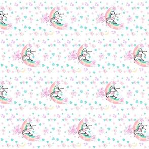 magical unicorn princess rainbows &  ribbons - VERTICAL MED 675
