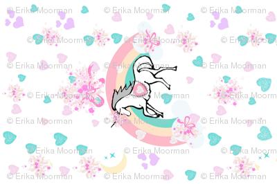 YARD 54  unicorn princess ribbons and bows