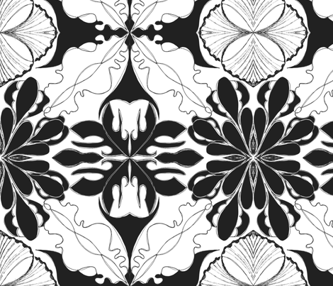 Windy Set B_W fabric by tjrobertson on Spoonflower - custom fabric