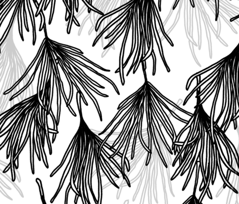Botanical Frond Large Scale fabric by arthousewife on Spoonflower - custom fabric
