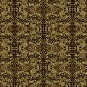 Tan Black and Brown Granite Fractal Pattern