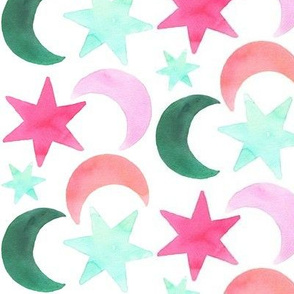 moon and star simple