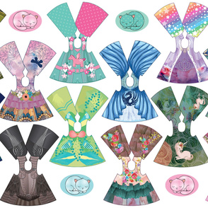 Fantasy Collection 14 inch doll dresses