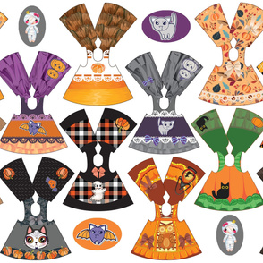 Spooky Collection 14 inch doll dresses