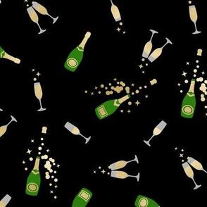 Pop Champagne small black