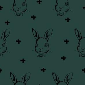 Hipster Bunnies Green