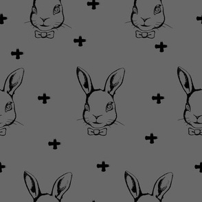 Hipster Bunnies Grey