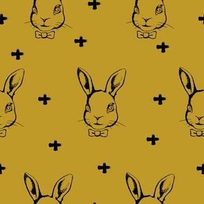 Hipster Bunnies Mustard
