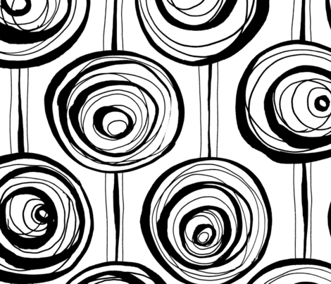 Scribble Circles fabric by twohanddesign on Spoonflower - custom fabric