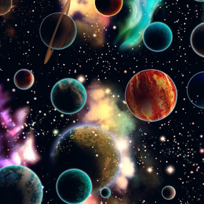 Space and Planets Rotated