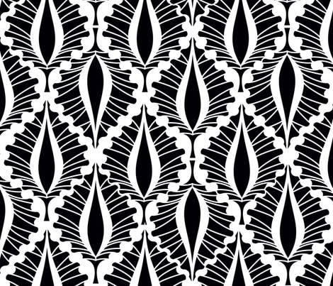 Tropical_Black and White fabric by mitalimdesigns on Spoonflower - custom fabric