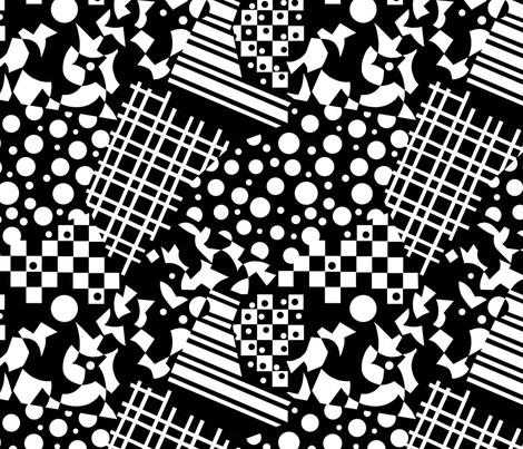 Monochrome fabric by patriciasheadesigns on Spoonflower - custom fabric