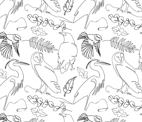Ornithologists Delight fabric by genevieve_wallace on Spoonflower - custom fabric
