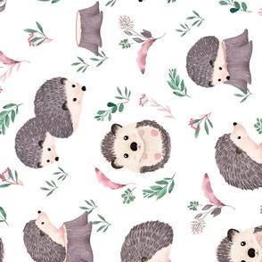 Watercolor Hedgehog - ROTATED