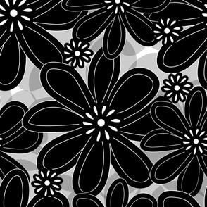 Wall Flower (in grayscale)