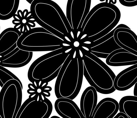 Wall Flower fabric by sarahbrubeck on Spoonflower - custom fabric