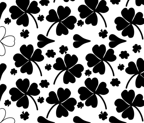 wonderful clovers-01 fabric by arnie on Spoonflower - custom fabric