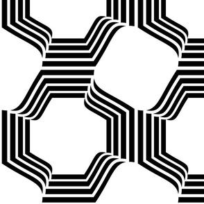 Octagons  black & white large scale jumbo