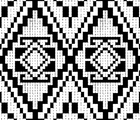 Modern Native BW fabric by chicca_besso on Spoonflower - custom fabric