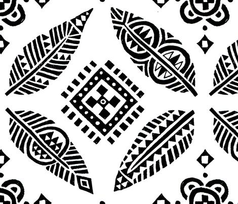 B_Wpattern-spoon-spjones fabric by stephaniepetersonjones on Spoonflower - custom fabric