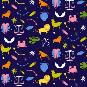 Zodiac  colourful space
