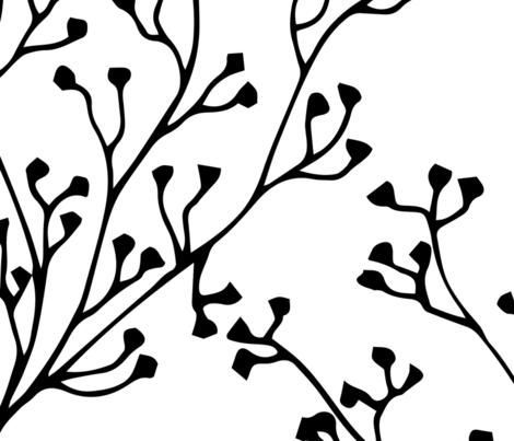 Large scale black branchs fabric by aralma on Spoonflower - custom fabric