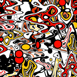 Bright graffiti liquid seamless pattern