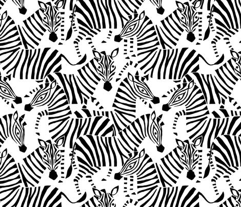 Jumbo Zebra Black and White fabric by heleen_vd_thillart on Spoonflower - custom fabric