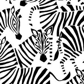Jumbo Zebra Black and White