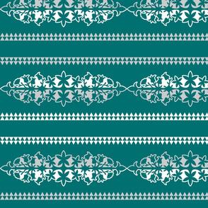 Native American Floral Design Sea Green
