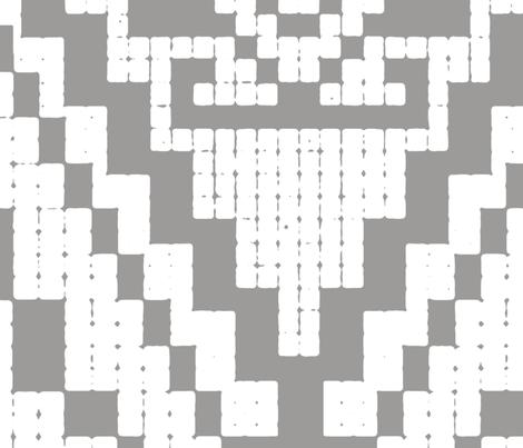 Modern native big medium grey fabric by chicca_besso on Spoonflower - custom fabric