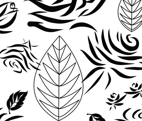rose bw4 fabric by vibha on Spoonflower - custom fabric