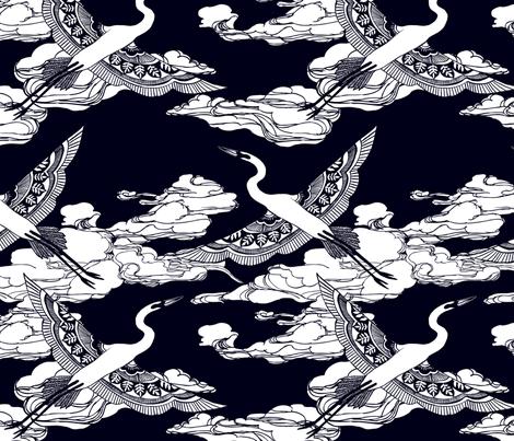 Egrets fabric by ceciliamok on Spoonflower - custom fabric