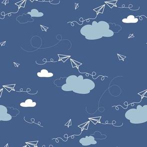 Paper Airplane - Sky & Cloud