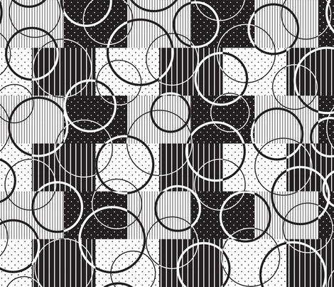Black & White Lg Scale fabric by malibu_creative on Spoonflower - custom fabric