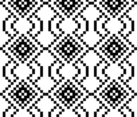 black and white geometry-01 fabric by paradise_of_colors on Spoonflower - custom fabric