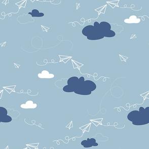 Paper Airplanes -Cloud & Sky