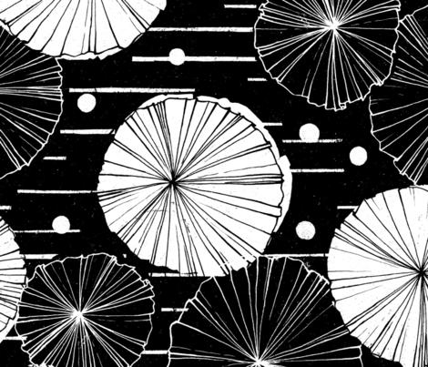 Water Garden M+M Black Hole by Friztin fabric by friztin on Spoonflower - custom fabric