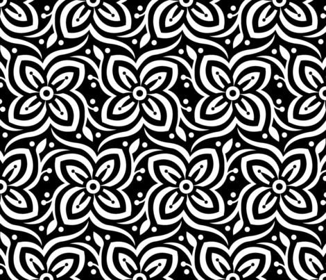 Big Bold Blk White Challenge fabric by kokara on Spoonflower - custom fabric