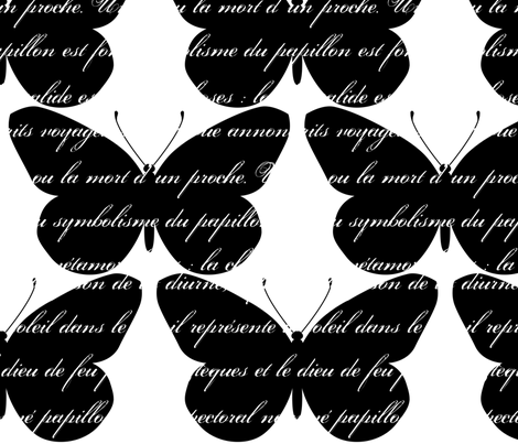 Bold papillon fabric by outoftime on Spoonflower - custom fabric