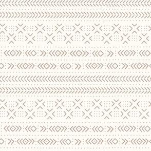 Mud cloth ivory tan medium