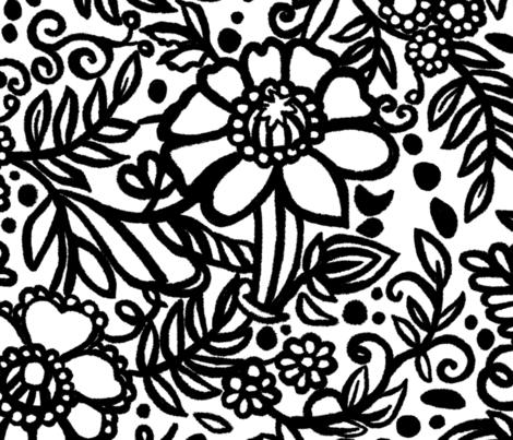 Hey Doodle Loo fabric by christiebcurator on Spoonflower - custom fabric