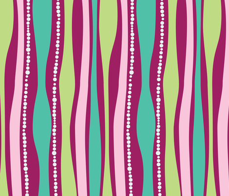 Groovy Waves Pink fabric by hazelrose on Spoonflower - custom fabric