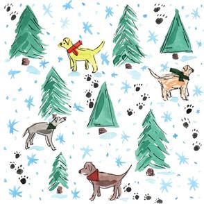 Christmas Tree Hunting - Dogs